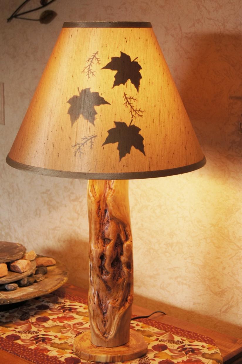 large lamp leafy shade