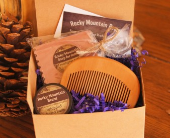 This beard pack comes with an all-wooden comb and makes an impressive gift for your bearded special one!