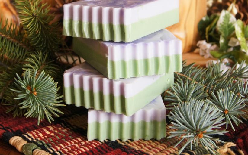 Natural layer soap