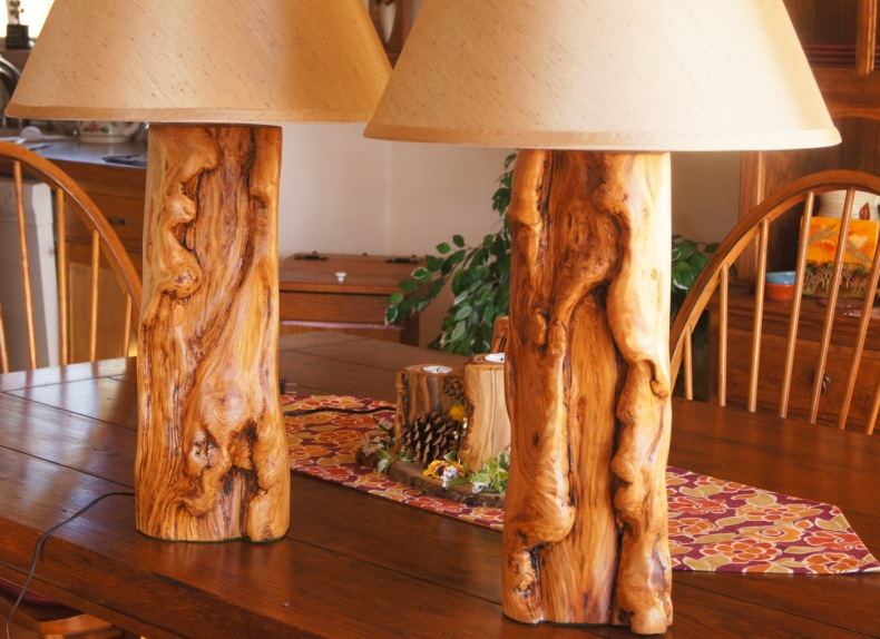 Chunky Aspen Lamps, Beautiful!