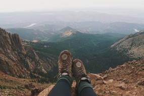 Hiking-boots-on-Pikes-Peak-mountain