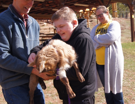 Loved holding the goats!